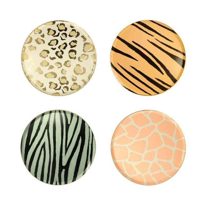 PLATOS MEDIANOS SAFARI ANIMAL PRINT